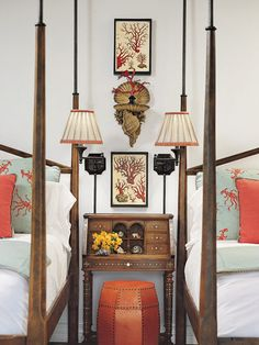 Gorgeous Bedroom, with an asian influence, ideal for a guest bedroom by Faudree Design Featured in Veranda magazine