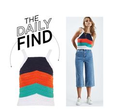 """The Daily Find: Topshop Crochet Top"" by polyvore-editorial ❤ liked on Polyvore featuring Topshop and DailyFind"