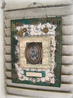 Handmade Altered Art Assemblage Vintage Collage Vintage by QueenBe