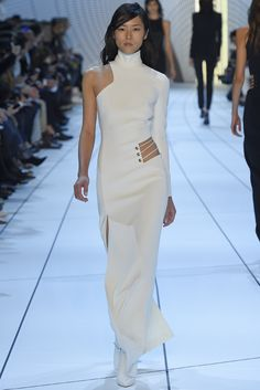 The streamlined tailoring and body-centric direction of Mugler under David Koma makes for nice, sexy and salable clothes. [Photo by Giovanni Giannoni]