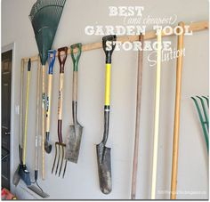 Garden tool storage - best and cheapest way to store garden tools!