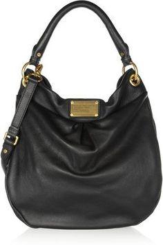 The Classic Q Hillier Hobo textured-leather shoulder bag #bag #women #covetme #marcbymarcjacobs #black