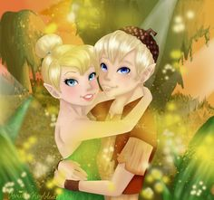 Tinkerbell and Terence by VanillaKeyblade.deviantart.com on @deviantART