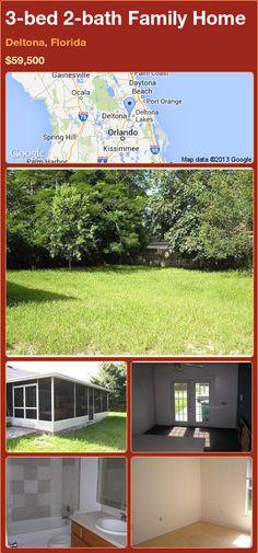 3-bed 2-bath Family Home in Deltona, Florida ►$59,500 #PropertyForSale #RealEstate #Florida http://florida-magic.com/properties/80809-family-home-for-sale-in-deltona-florida-with-3-bedroom-2-bathroom