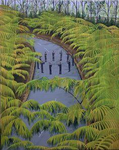 Paintings by artist Ian Davis. More images below.                      Ian Davis' Website Via: Supersonic