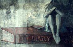 "Painting for the Night Gallery episode ""The Diary"". Tom Wright. Love the series! Perfect decorations for Halloween!"