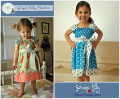 Teacup Tilly Shirred Boutique Dress | YouCanMakeThis.com