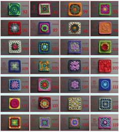 365 Granny Crochet Squares for Every Day [Free Patterns and Tutorials]