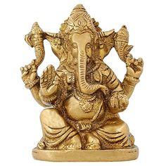 Indian Decorative Items God Ganesha Brass Statue Hindu Temple Puja Mandir 4 inch ShalinIndia http://www.amazon.in/dp/B010M3J6UY/ref=cm_sw_r_pi_dp_T8U3vb0A9BQ60