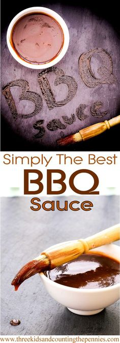 This homemade BBQ sauce is perfect for coating any barbecued meat -- chicken, pork chops, steals -- and great as a dip, too. #Bbqsauces