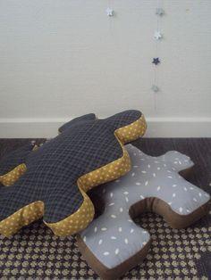 Coussins puzzle #couture #coussin