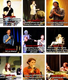 [gifset The SPN cast on Jensen Ackles :) overlord Misha wins, because he knows about Destiel. Jensen Ackles, Misha Collins, Destiel, Jared Padalecki, Lol, We Are Bears, Emmanuelle Vaugier, Cw Series, Winchester Boys