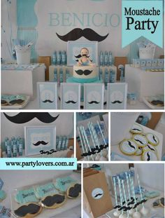 Check out this mustache baby shower party! See more party ideas at CatchMyParty.com!