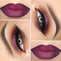 Perfect makeup for green and blue eyes.
