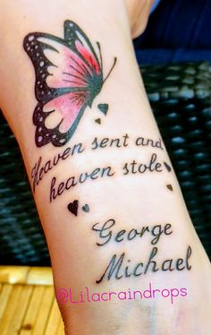 My George Michael tattoo; he's with me everyday ❤️