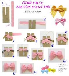 I found this tip cool, we can never make a perfect bow . I've done my perfect - PETRA Diy Bow, Diy Hair Bows, Hair Spa At Home, Card Making Tips, Gift Bows, Fabric Bows, Ribbon Crafts, Sewing Projects For Beginners, Cute Bows