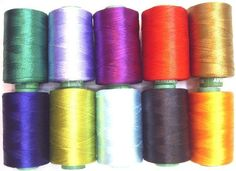10 Rainbow RAYON Hand Machine Embroidery Thread New Unused GIFT 984Y RP1 #H