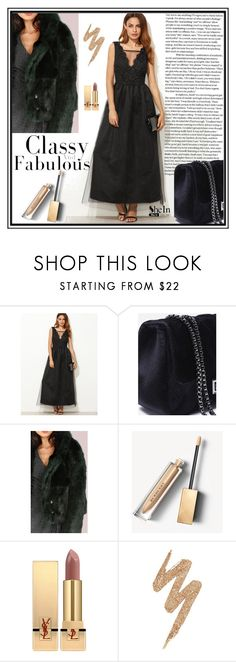 """""""SheIn #2/9"""" by s-o-polyvore ❤ liked on Polyvore featuring Burberry, Yves Saint Laurent and Urban Decay"""