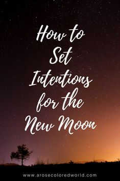 New Moon Intention Setting: January
