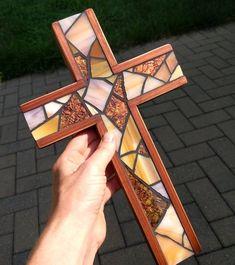 Mosaic Wall, Mosaic Glass, Stained Glass, Mosaic Crosses, Wood Crosses, Handmade Copper, Handmade Wooden, Stain Glass Cross, Cross Wall Decor