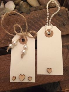 5 x Pearl and Wooden Heart Gift Luggage Tags/Wedding Place Card Luggage Tags Wedding, Wedding Place Cards, Jw Gifts, Best Gifts, Creative Gift Wrapping, Handmade Tags, Card Tags, Gift Cards, Paper Tags