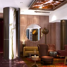 #McCARTAN rendering for the lobby at Eventi hotel #luxury #design #interior