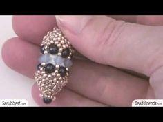 Beaded earrings: peyote stitch earrings made with seed beads | Beaded Jewelry - YouTube