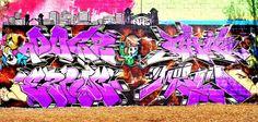 Dogz - Chik - Corze - Merc  - #graffiti #piece - graffiti wall - #burner