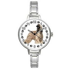 BMTC463 Baluchi Afghan Hound Stainless Steel Italian Charm Mens Ladies Wrist Watch * Check out the watch by visiting the link.