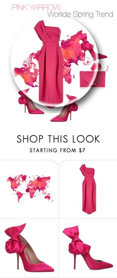 """""""PINK YARROW"""" by lubinesse ❤ liked on Polyvore featuring Preen, Kurt Geiger and Accessorize"""