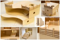 3 level hamster house from IKEA's Knuff magazine holders - picture only.