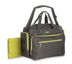 Jeep Perfect Pockets Duffle Diaper Bag, Grey