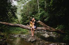 Engagement Shoot. Mangrove River Boat Ride. River Engagement Photos