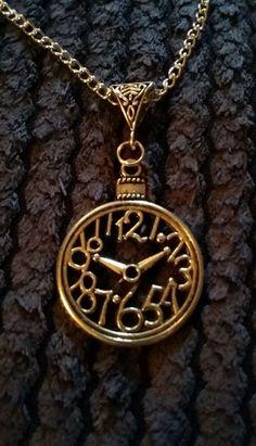 "Handmade clock pendant necklace (""antique silver"") | eBay"