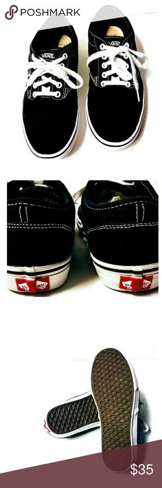 Vans black & white Off the wall black and white Vans. Awesome pre-owned condition. Worn twice. Size 9. Vans Shoes Sneakers