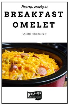 Enjoy a breakfast as big as your adventures! Our Crockpot Omelet recipe is as simple as it is delicious and will leave you ready to tackle the day. Slow Cooker Recipes, Crockpot Recipes, Smoked Sausage Recipes, Breakfast Casserole Sausage, Omelet, Tasty Dishes, Macaroni And Cheese, Big, Simple
