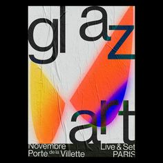 "342 Likes, 3 Comments - Virgile Flores (@virgileflores) on Instagram: ""Third poster for Glazart, Paris. #posterdesign #poster #graphicdesign #graphicposter #typography"""