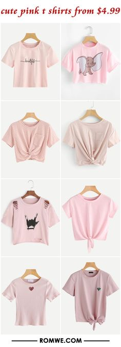 cute pink t shirts from $4.99
