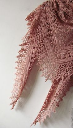 Crochet Powder Shawl - Summer Cotton Shawl - Crochet Summer Shawl - Made To Order Crochet Powder Pink Shawl - Summer Cotton Shawl - Hand Knit Woman Wrap - Wedding Bridal Cover Up - Made To Order Hand crocheted with love ♥ and care. Very feminine and del Shawl Crochet, Gilet Crochet, Crochet Shawls And Wraps, Crochet Scarves, Lace Knitting, Crochet Clothes, Crochet Lace, Crochet Summer, Cotton Crochet