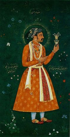 Prince Khurram (Later emperor Shahjahan) by artist Abu'l Hasan, circa 1616 - The Inscription has Shahjahan asserting that this portrait represents his likeness in perfect exactness. Mughal Miniature Paintings, Mughal Paintings, Mughal Empire, Victoria And Albert Museum, Illustrator Tutorials, North Africa, Indian Art, Diy Painting, Southeast Asia