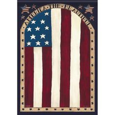 Beautiful America Double Sided Flag