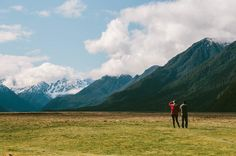 Sometimes I count myself lucky when taking photos... even in the middle of nowhere in New Zealand! As I was taking a photo of this beautiful landscape a couple pulled up on the side of the road and stepped into the frame giving the photo great perspective (not to mention the red jacket!) How often does it happen to you if ever?