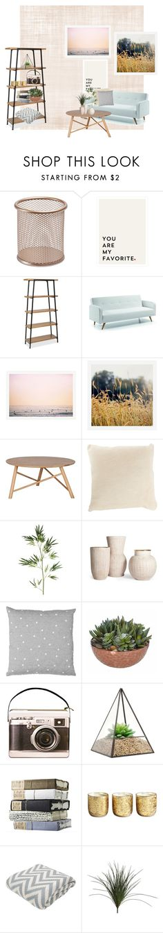 """""""Living room"""" by annexx00 ❤ liked on Polyvore featuring interior, interiors, interior design, home, home decor, interior decorating, Pottery Barn, UGG Australia, Pier 1 Imports and Illume"""