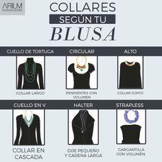 [#ARIUM] Te presentamos esta útil guía de collares para saber cuál es el indicado según el estilo de tu blusa.