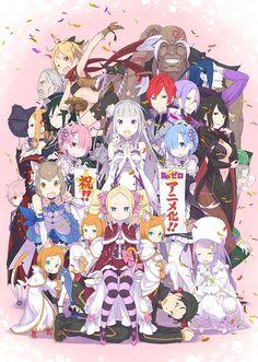 La novela ligera Re: Zero Kara Hajimeru Isekai Seikatsu tendrá Anime para televisión.