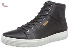 Ecco ECCO SOFT 7, Sneakers Hautes homme - Noir (BLACK01001), 47 EU - Chaussures ecco (*Partner-Link)