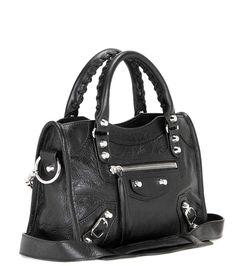Balenciaga - Classic Mini City leather shoulder bag | mytheresa.com