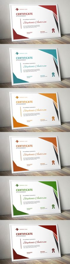 Pin by Bashooka Web   Graphic Design on Certificate Template Design     Modern MS Word certificate design  Printables