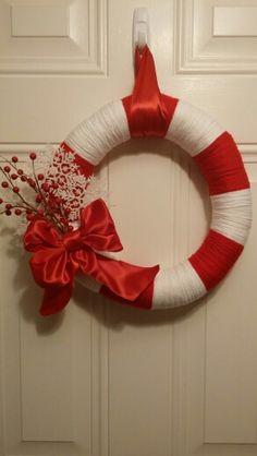 Candy Cane Christmas  Wreath