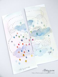 Cloud Original Watercolor Painting by thevysherbarium on Etsy, $22.00